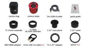 ASI294MM Pro 深空相机 出厂配件