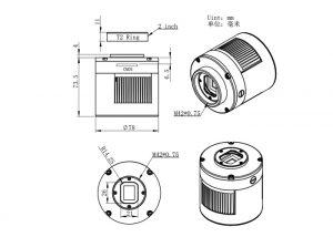 ASI294MM Pro 深空相机 外观结构